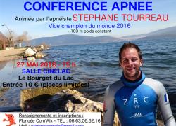 Conférence et stage d'apnée les 26 et 27 mai 2018